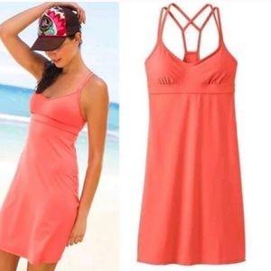 Athleta Coral sunset coastline dress